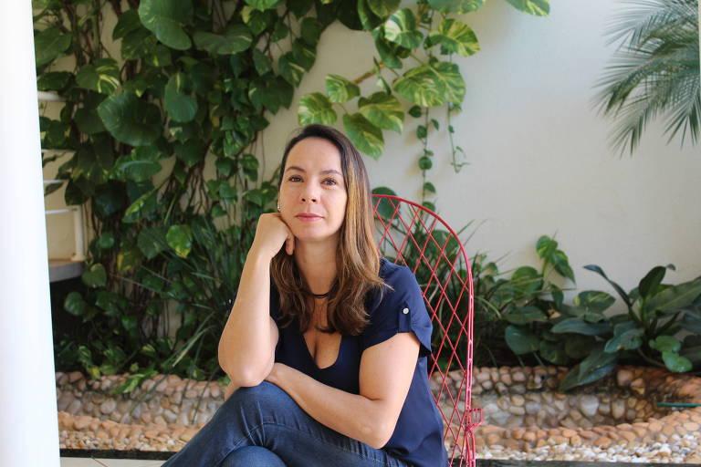 A locutora e empresária Malu Pontes, proprietária da Casa das Vozes