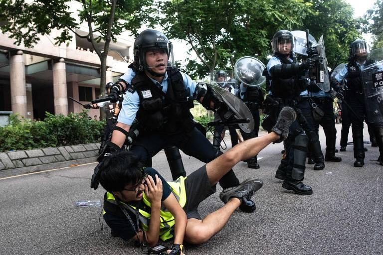Manifestantes de Hong Kong realizam novo protesto