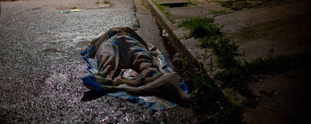 Corpo de homem assassinado em Belém, uma das capitais mais violentas do país