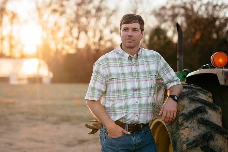 Robert Foster, candidato republicano a governador de Mississipi, em foto de campanha