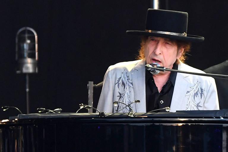 Bob Dylan se apresenta no festival British Summer Time no Hyde Park, em Londres, Reino Unido