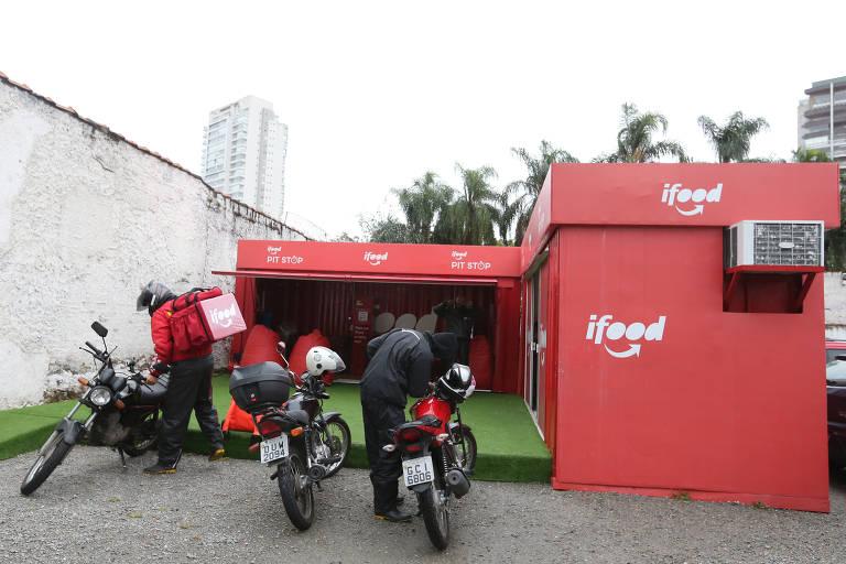 Base de descanso para motociclistas do iFood