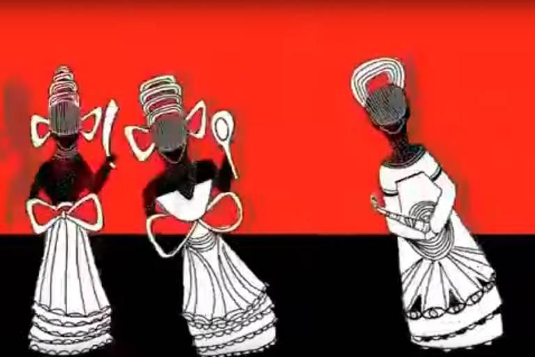 imagem de abertura do programa 'A Voz das Religiões Afro', exibida pela Record News