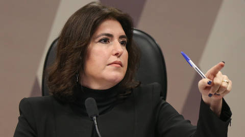 BRASÍLIA, DF, 05.06.2019:  A senadora Simone Tebet, oresidente da Comissão de Constituição e Justiça do Senado durante a sessão de análise da anulação do decreto das armas e do Projeto de Lei que