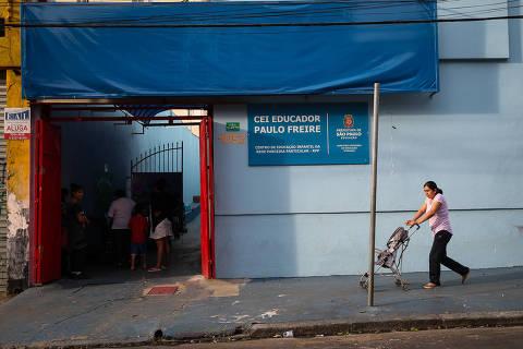 SAO PAULO/ SP, BRASIL, 02-07-2019: CEI Educador Paulo Freire (R. Conselheiro Nébias, 1052 - Campos Elíseos) - A criação de novas vagas em creches na rede municipal de ensino estagnou.    (Foto: Zanone Fraissat/Folhapress, MPME)***EXCLUSIVO****