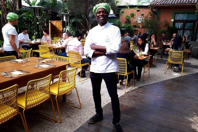 Chef Meia Noite no Restaurante Capim Santo, em São Paulo
