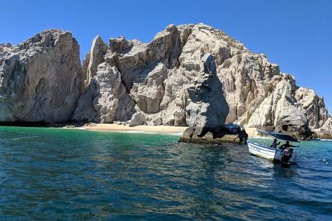 Rocha próxima a El Arca, em Cabo San Lucas, no México