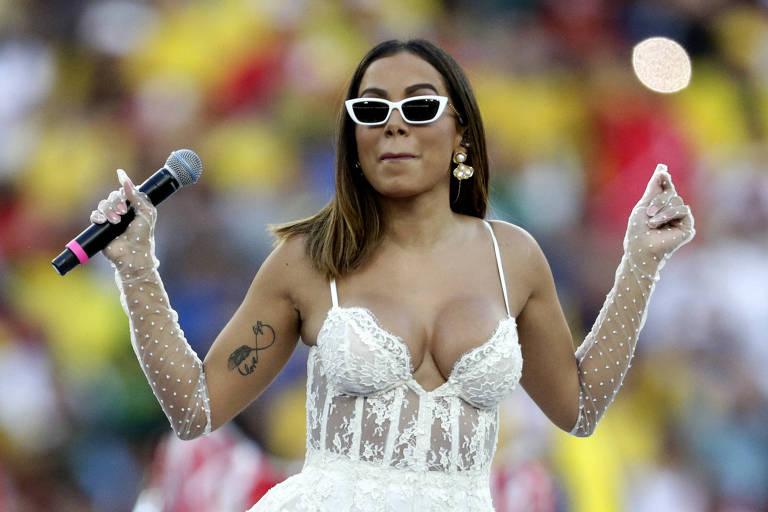 Anitta se apresentou na final da Copa América, no Maracanã