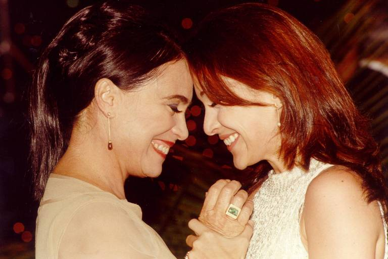 Regina e Gabriela Duarte na novela 'Por Amor'