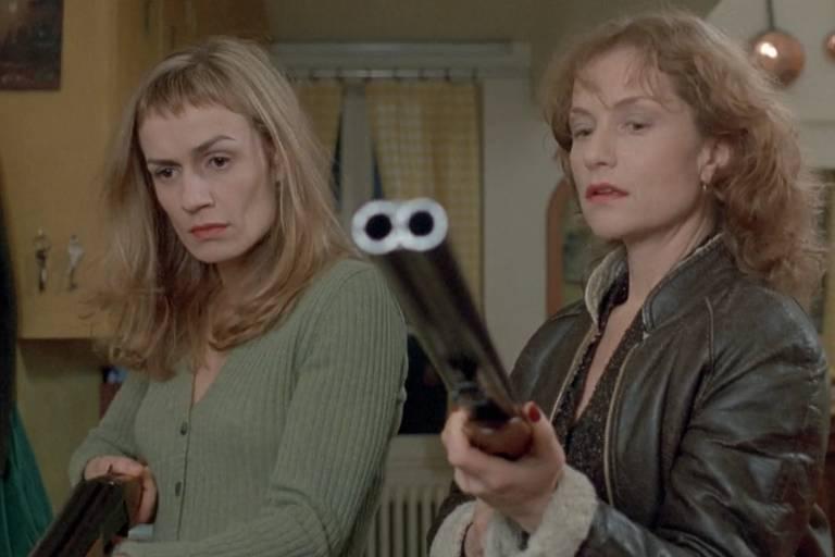 "Sandrine Bonnaire e Isabelle Huppert em ""Mulheres Diabólicas"" (1995)"