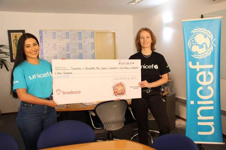 Thaynara OG arrecada fundos para UNICEF