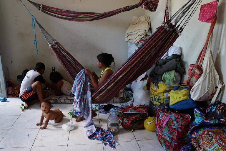 Índios venezuelanos em Manaus