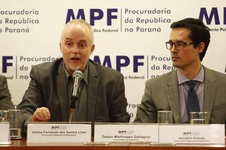 Os procuradores Carlos Fernando Lima e Deltan Dallagnol