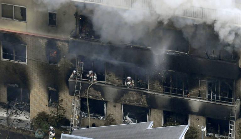 Incêndio em estúdio de animação no Japão