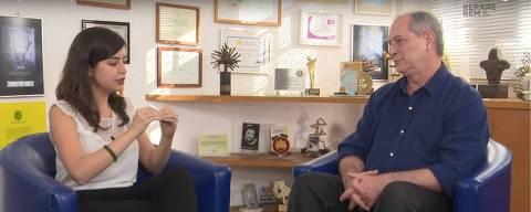 Tabata Amaral dá entrevista para Ciro Gomes no canal dele no YouTube.