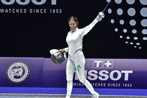 Budapest, 18.07.2019 World Championships Sabre Men and Epee Women Nathalie Moellhausen . Photo by Simone Ferraro / Bizzi Team ORG XMIT: qrWVby7BrL_3Ejfd5SIn
