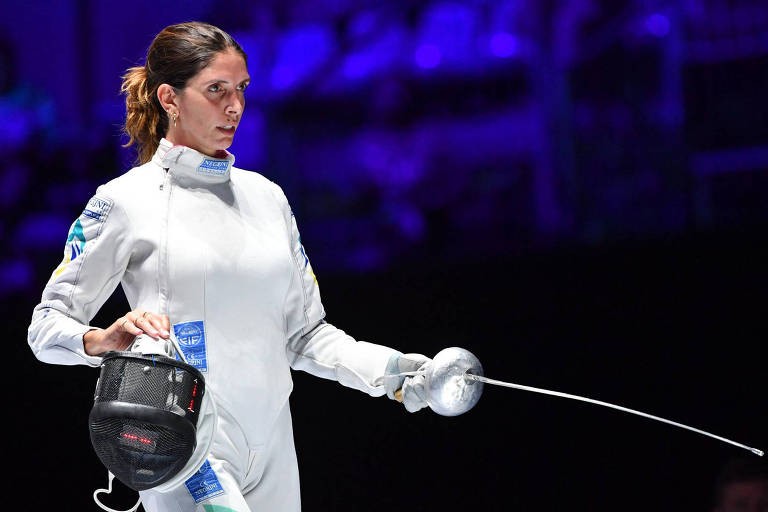 Nathalie Moellhausen durante duelo da campanha vitoriosa no Mundial de 2019