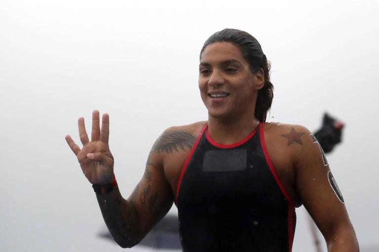 Ana Marcela conquista segundo ouro no Mundial de Esportes Aquáticos da Coreia do Sul