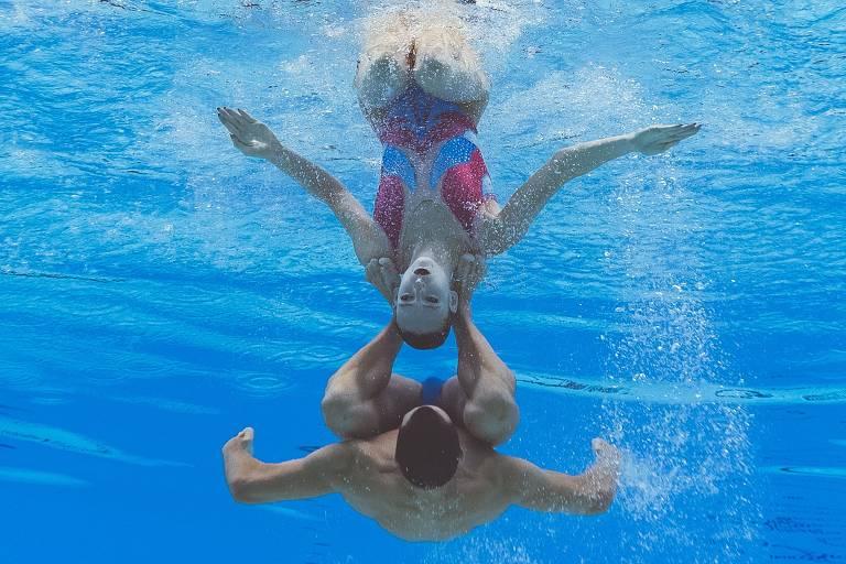 O nado artístico no Mundial de esportes aquáticos de 2019