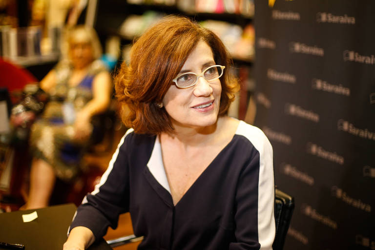 A jornalista Miriam Leitão no lançamento do seu livro 'A Verdade É Teimosa', em 2017