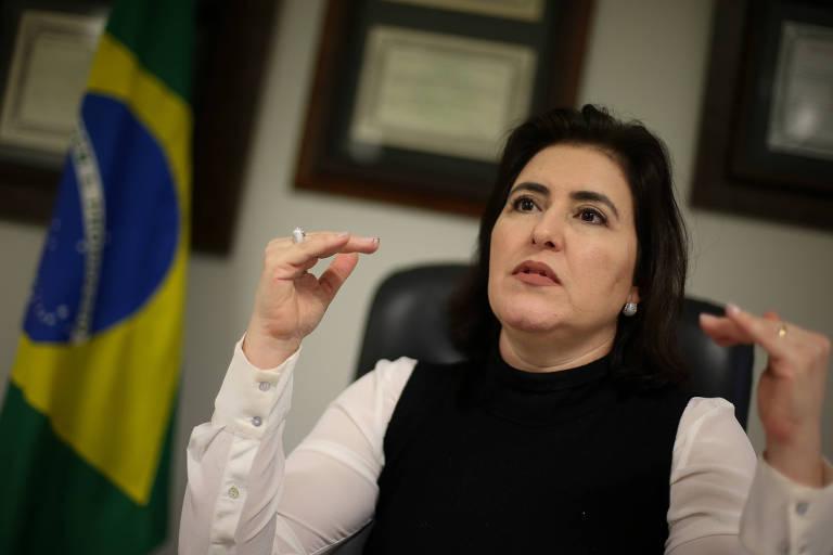 A senadora Simone Tebet (MDB-MS), presidente da Comissão de Constituição e Justiça do Senado