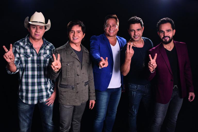 Chitãozinho, Xororó, Leonardo, Zezé Di Camargo e Luciano celebram a volta do projeto 'Amigos'