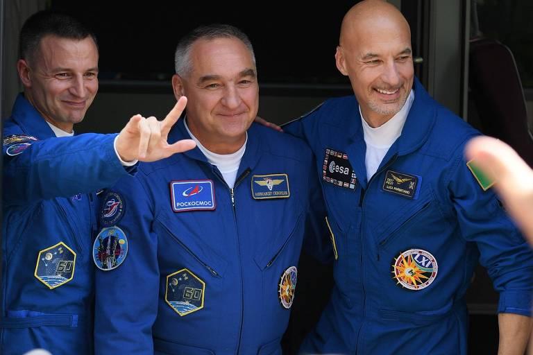 Três astronautas decolam para a ISS 50 anos após a chegada à Lua