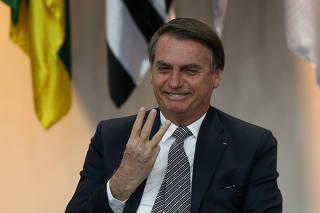 O presidente Jair Bolsonaro em cerimônia para comemorar o Dia Nacional do Futebol