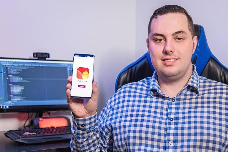 """Brayon Pieske, 25, estudante catarinense que criou o """"Tinder da doação"""""""