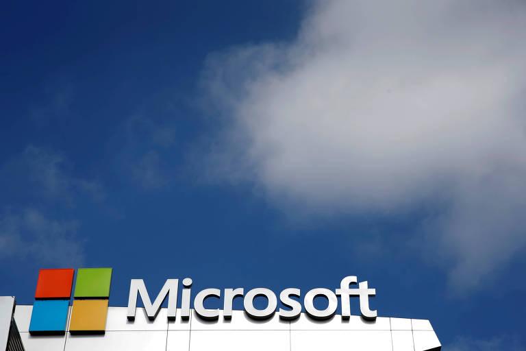 Logo da gigante de tecnologia, Microsoft