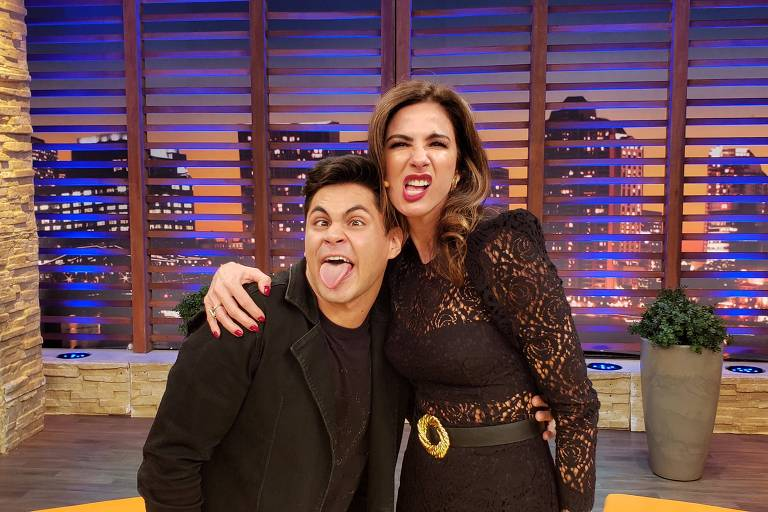 Lucas Veloso e Luciana Gimenez