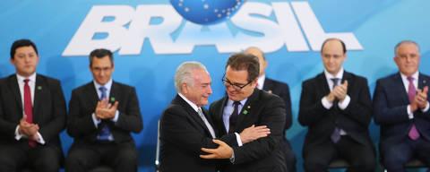 Michel Temer na posse do Ministro do Turismo Vinicius Lummertz no Palácio do Planalto
