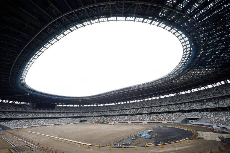 O andamento da construção de novas arenas para Tóquio-2020