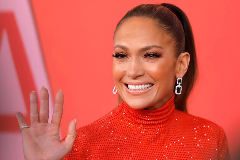 A cantora Jennifer Lopez em Nova York