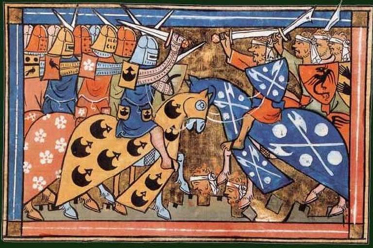 Ilustração da Segunda Cruzada, iniciada no ano de 1147