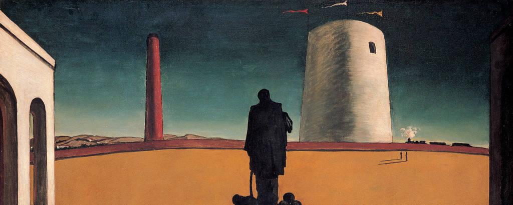 Quadro 'O Enigma de um Dia', de Giorgio De Chirico