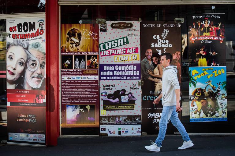 Teatro Ruth Escobar, no Bixiga, na região central de São Paulo