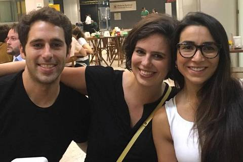 Luiz Taliberti (à esq.), Camila Taliberti e Fernanda Damian, mortos após rompimento de barragem em Brumadinho