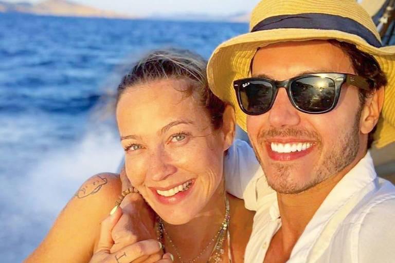 Luana Piovani e patinador Marcel Sturmer passam férias juntos em Ibiza
