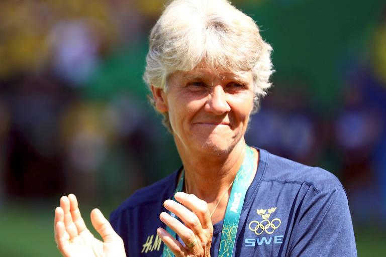 A sueca Pia Sundhage, 59, foi anunciada pela CBF como técnica da seleção brasileira feminina