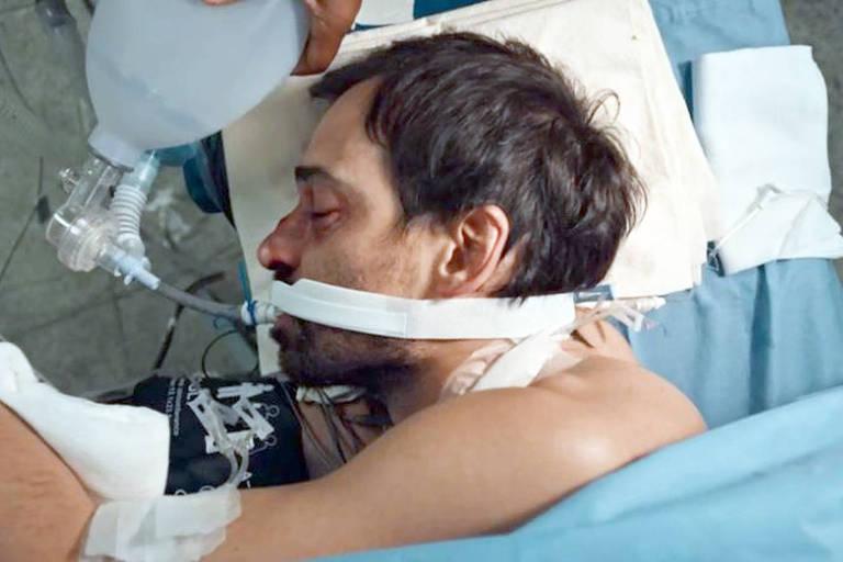 Evandro é atendido no Hospital São Tomé após tragédia no trânsito