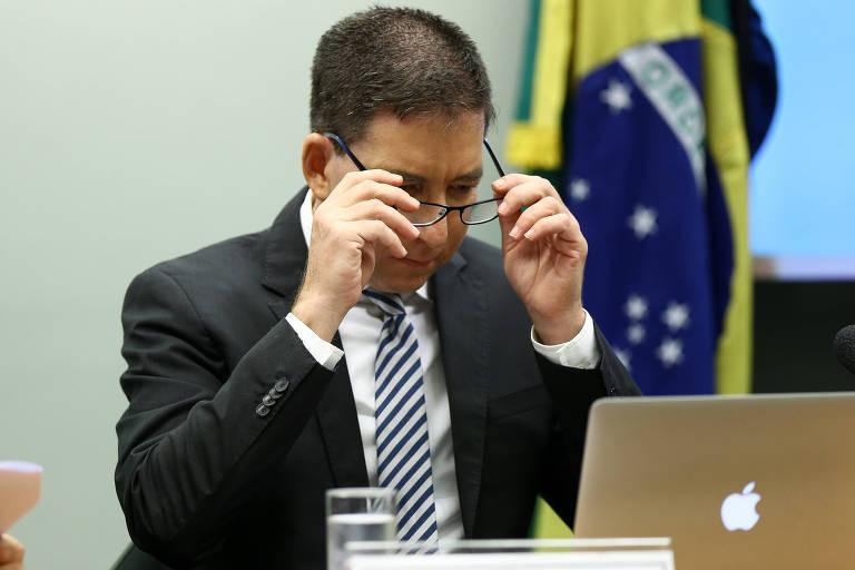 O jornalista Gleen Greenwald, do site The Intercept Brasil, durante audiência na Câmara dos Deputados