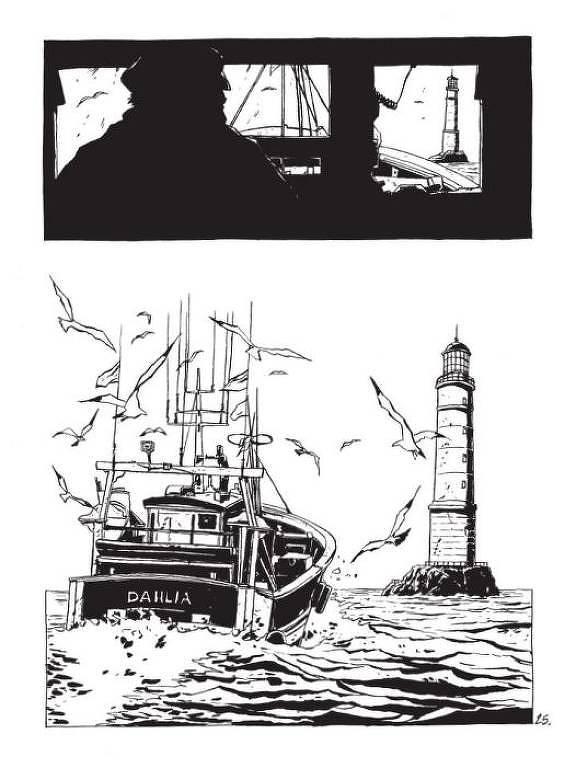 Página de 'Solitário', de Christophe Chabouté