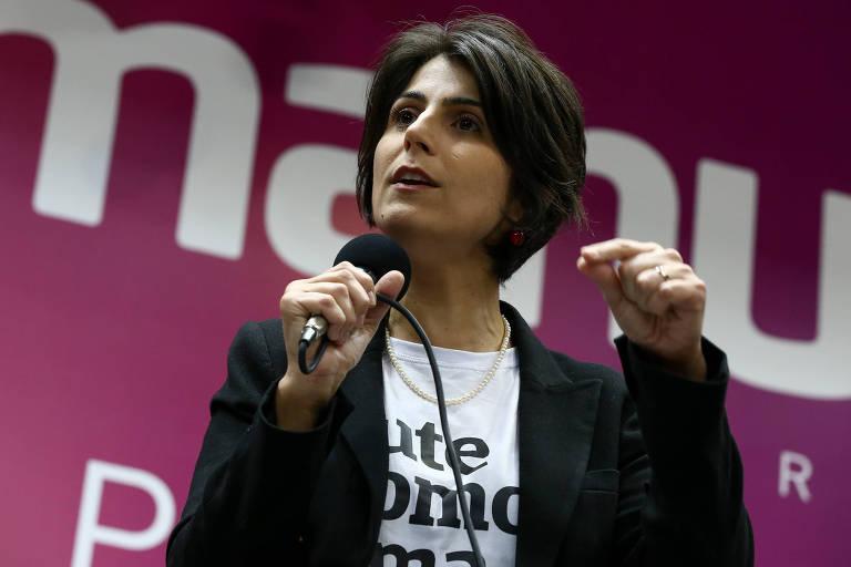 A ex-candidata a vice-presidente Manuela D'Ávila (PC do B)