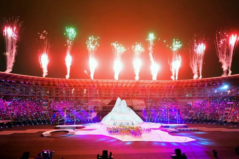 Estádio Nacional de Lima recebeu as cerimônias de abertura e encerramento dos Jogos Pan-Americanos