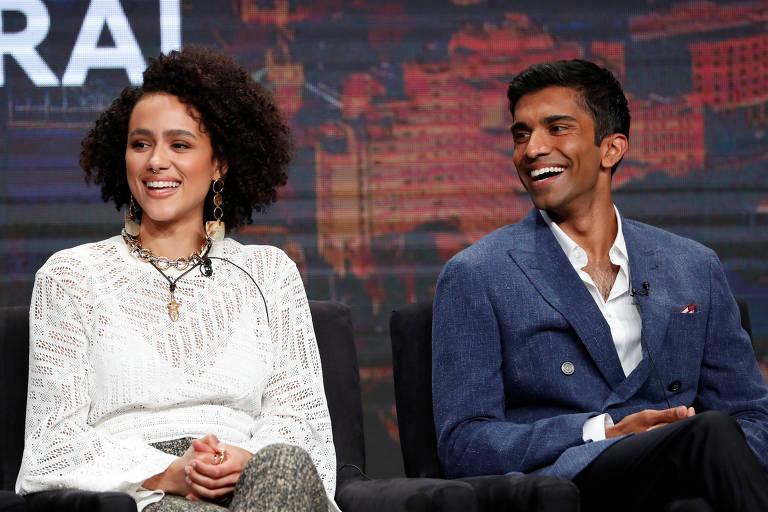 Os atores Nathalie Emmanuel e Nikesh Patel, protagonistas da nova série
