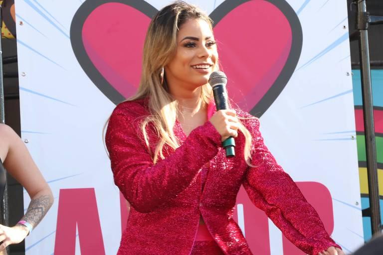 A cantora Lexa no Game XP, no Rio de Janeiro