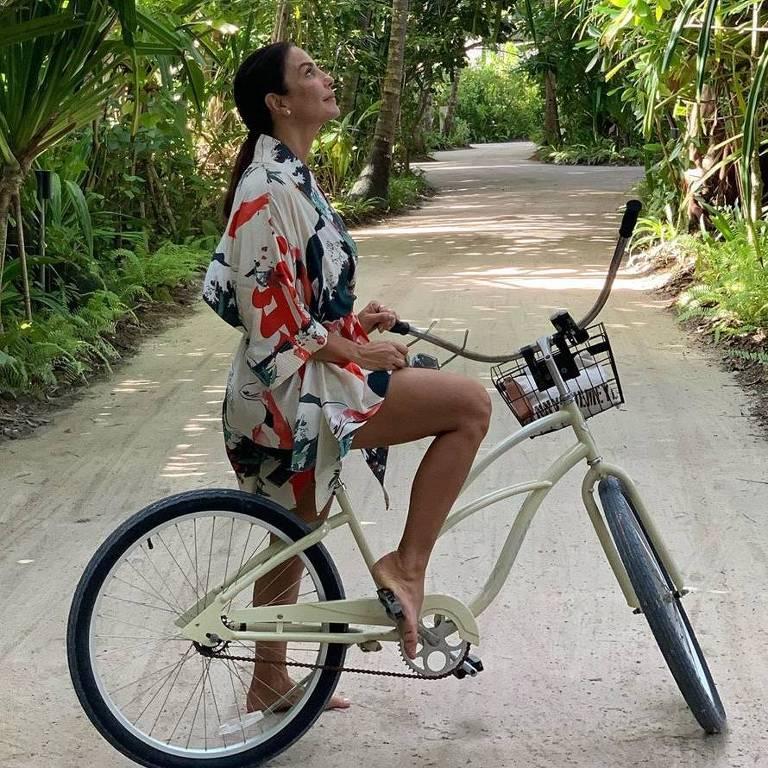 Ivete Sangalo curte férias com a família nas Ilhas Maldivas