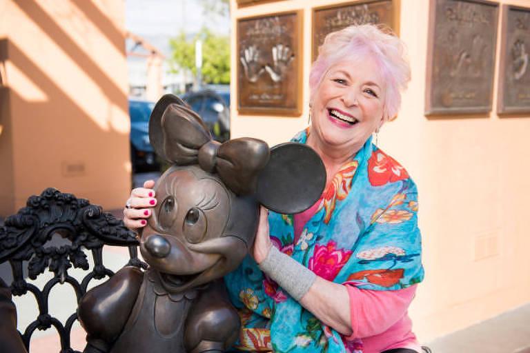 A dubladora Russi Taylor, voz de Minnie Mouse
