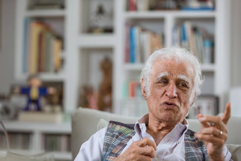 Foto mostra  o cartunista e ilustrador, Ziraldo, em outubro de 2017, no Rio de Janeiro